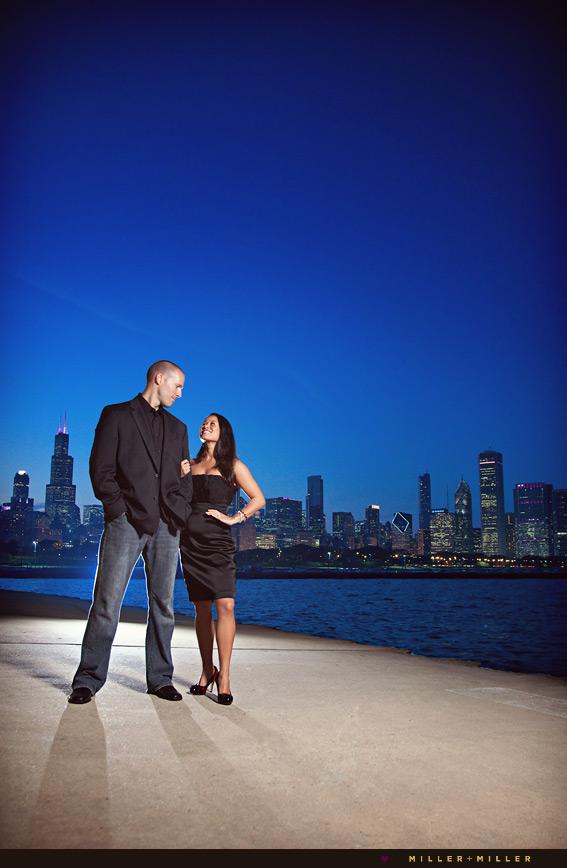 high-fashion engagement chicago