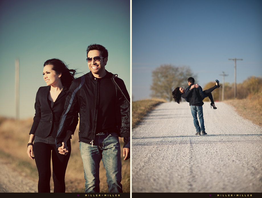 illinois country road engagement