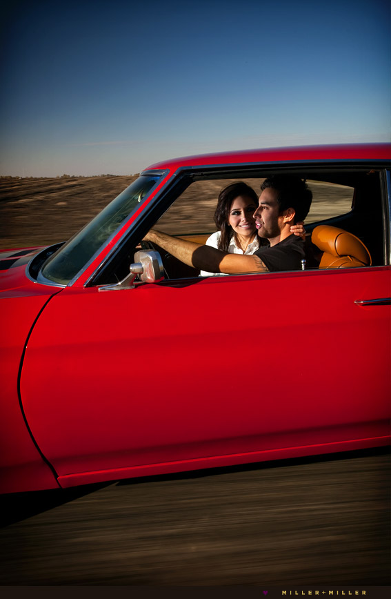 portraits in moving classic car