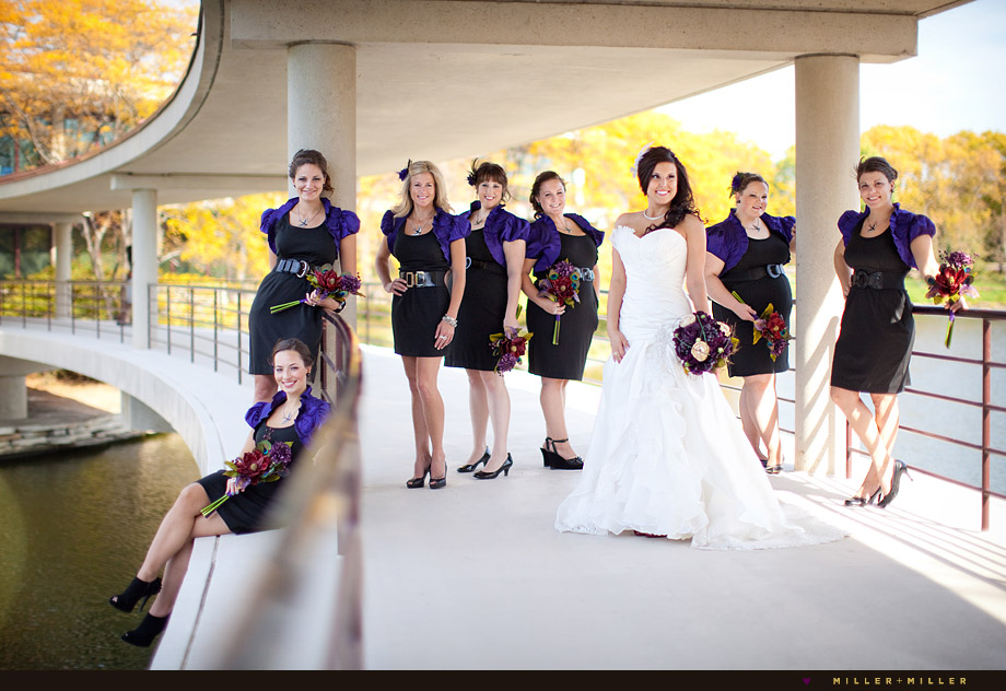 stylish bridal party wedding photography