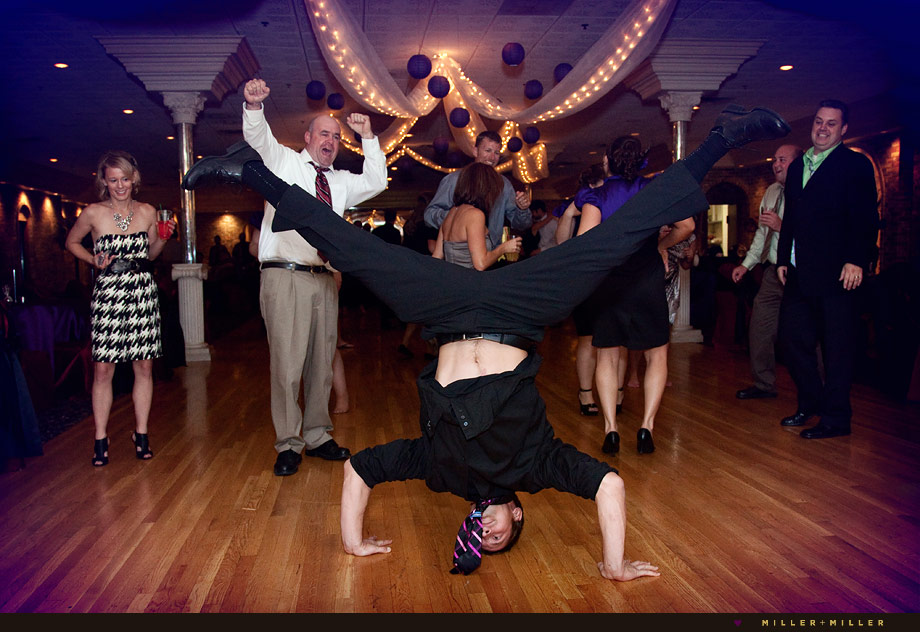 wedding break dancing