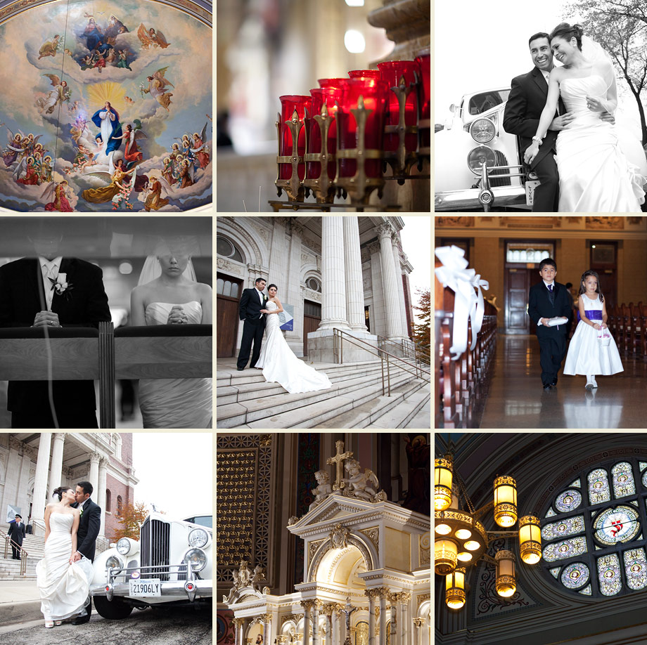 classic chicago wedding ceremony photography