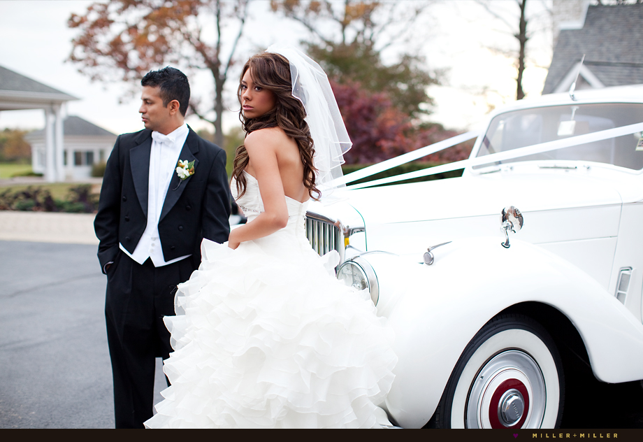 fashion chicago wedding photographer rolls royce