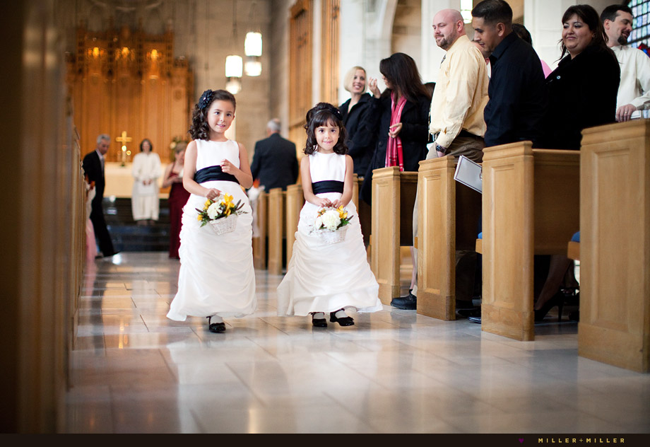 flower girls church aisle