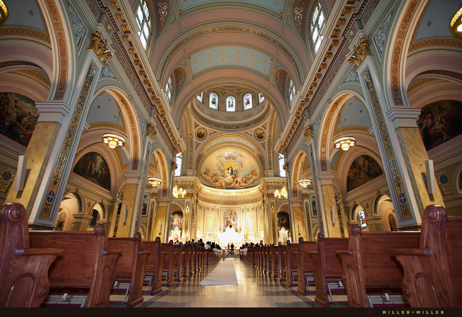 historic catholic chicago church ceremony