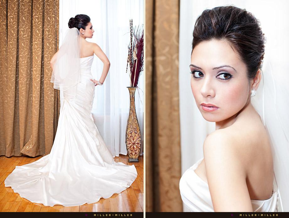 modern chicago bride portraits