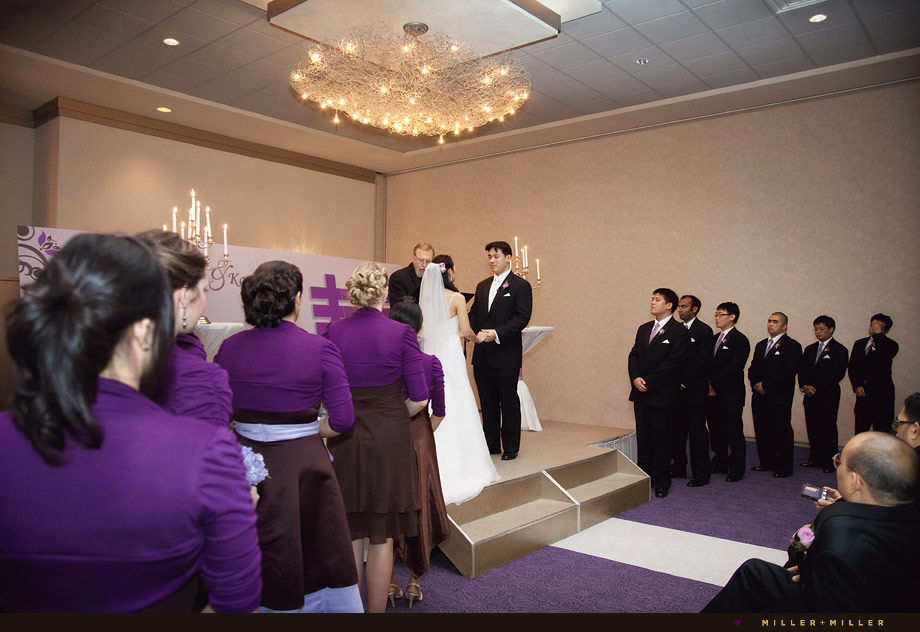 modern indoor wedding