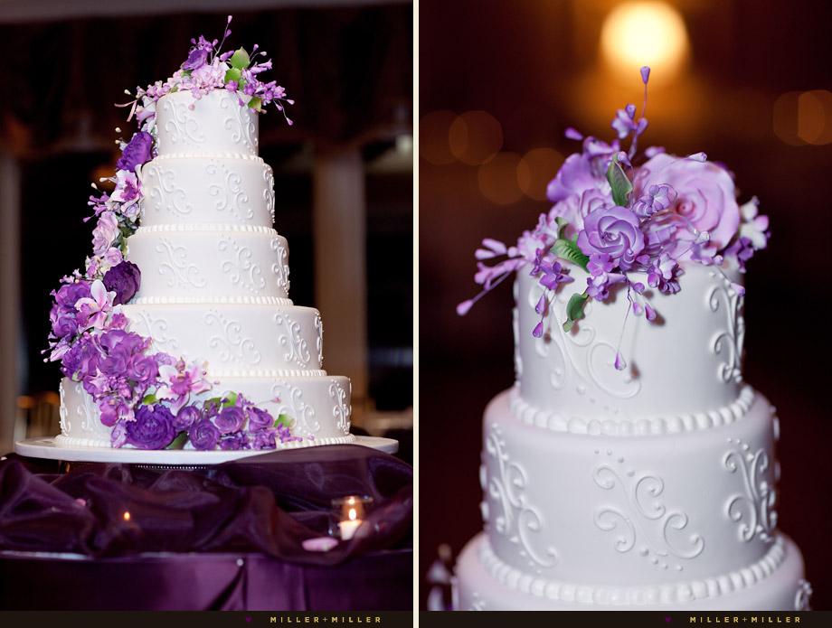 oak mill bakery purple wedding cake