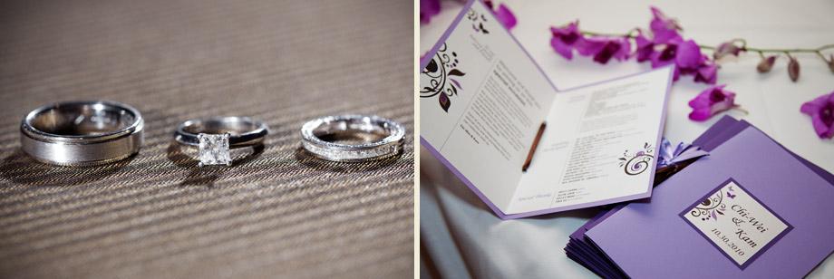 purple modern wedding-programs rings