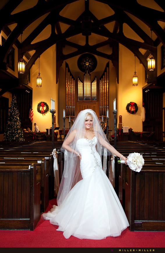 bride church portrait