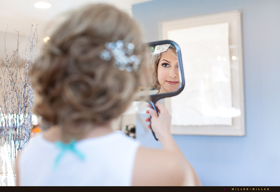 bride make-up mirror
