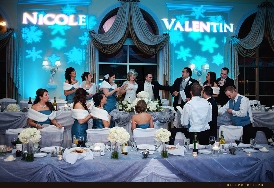 elegant winter wedding reception