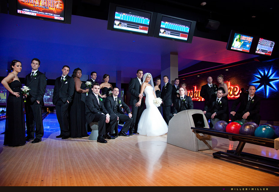 unique lombard wedding bowling