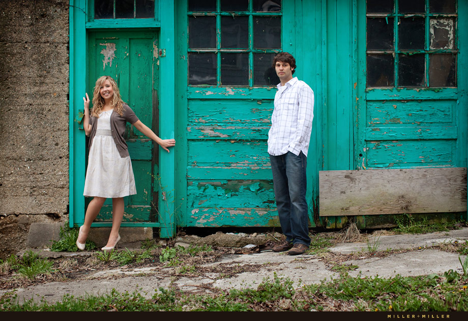 turquoise door couple portraits