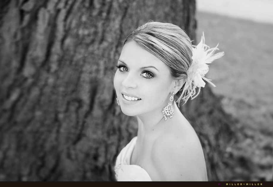 black white bride picture