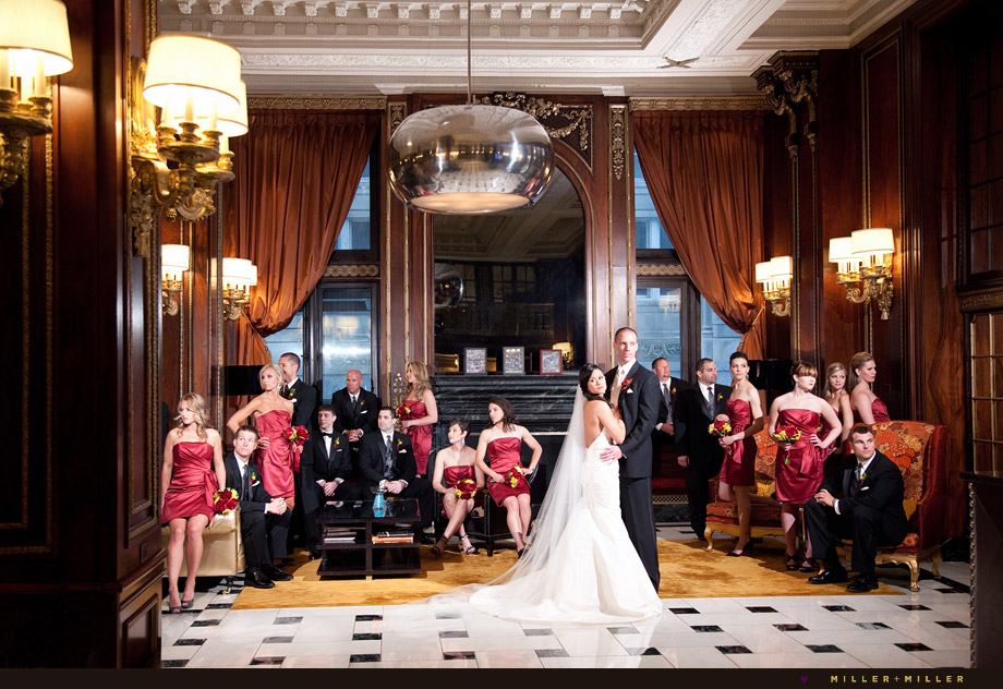 Blackstone Hotel Wedding Chicago Photographer