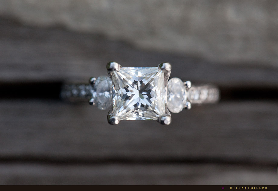 brilliant Tacori princess cut diamond ring photo