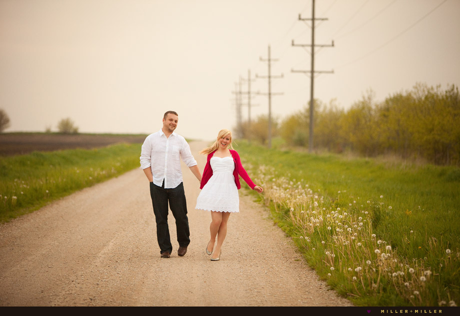 country styled engagement session