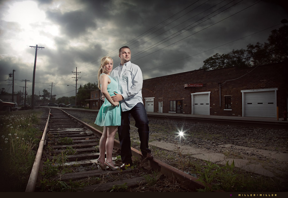 dramatic engagement photographer