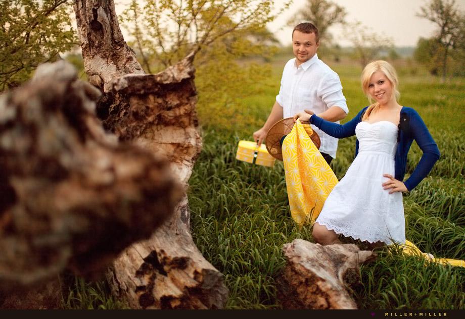 picnic engagement pictures
