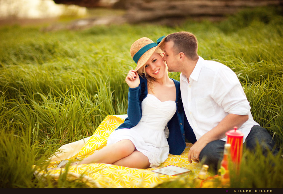 picnic style engagement photo session