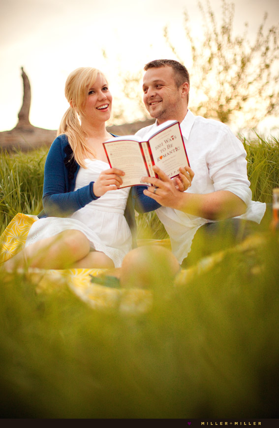 picnicking in country reading book