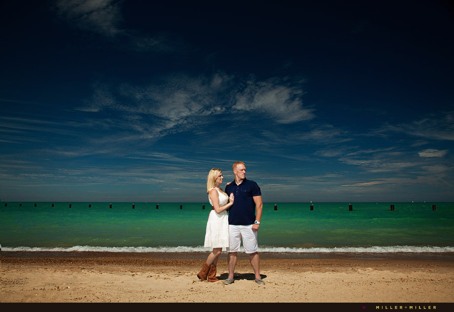 beach engagement photographs