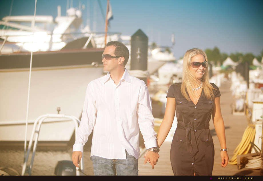 boat marina yacht engagement wedding photography