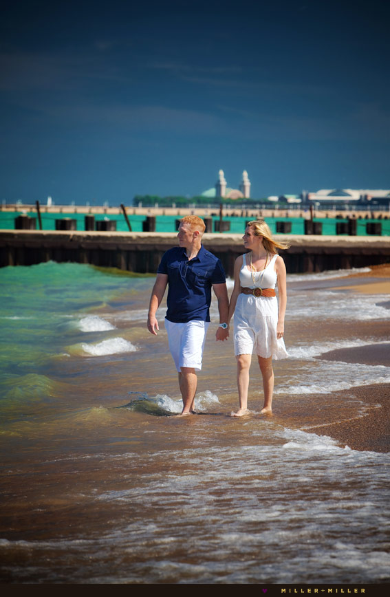 chicago beach engagement pictures