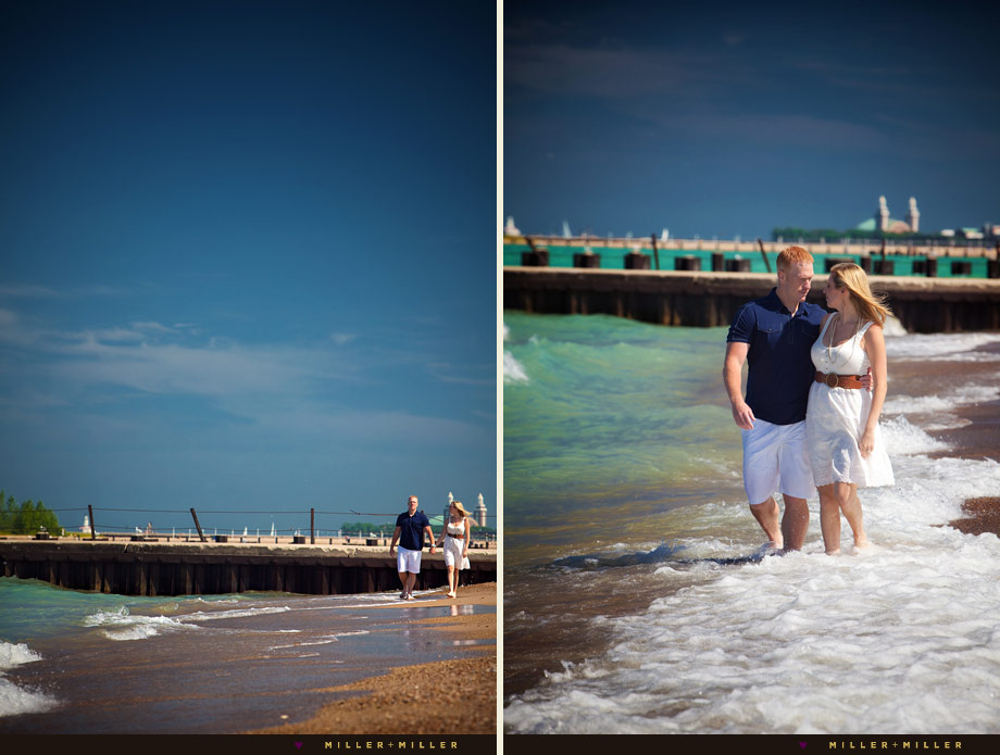 chicago north shores beach engagement