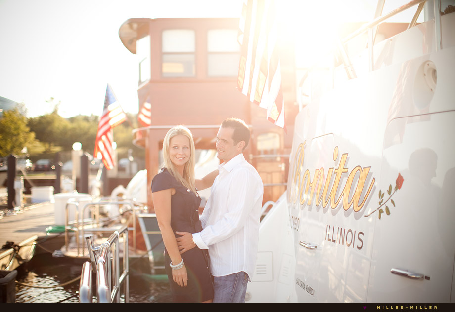 chicago photographer nautical engagement wedding pictures