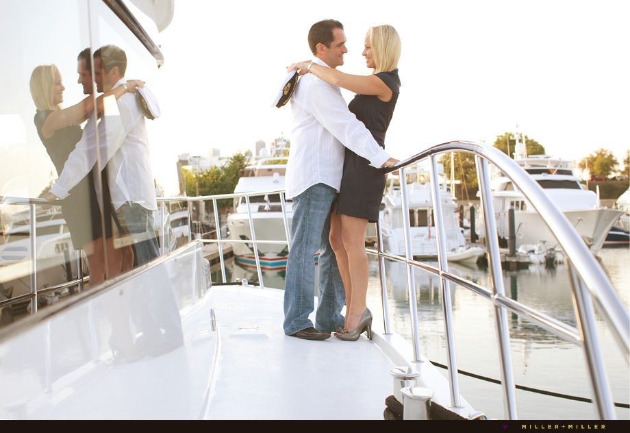 chicago yacht engagement photography