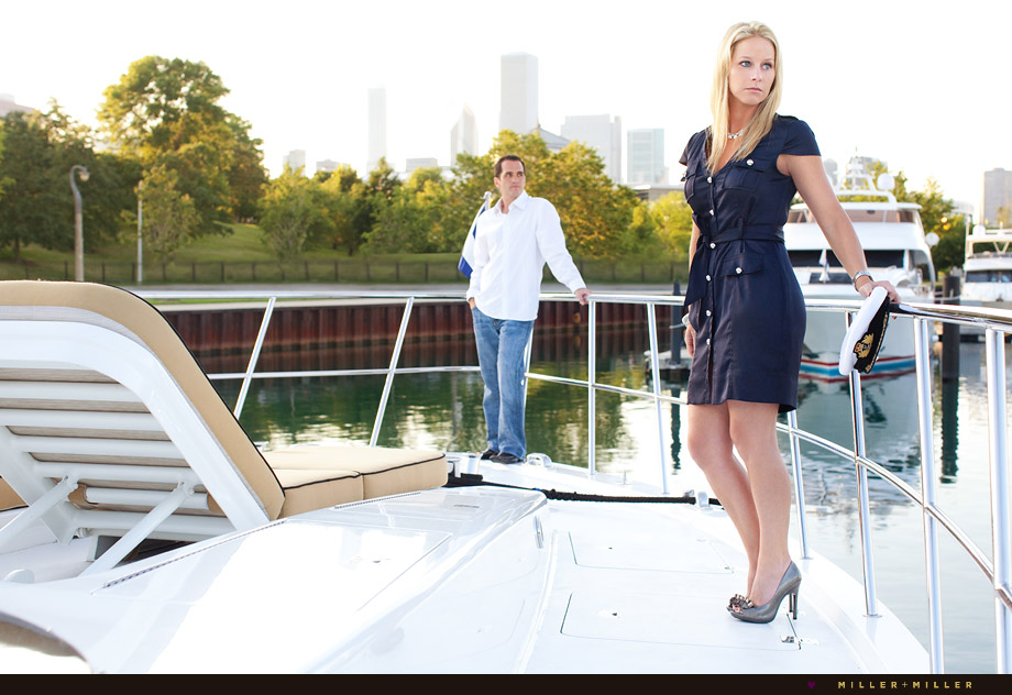engagement photography nautical boating theme
