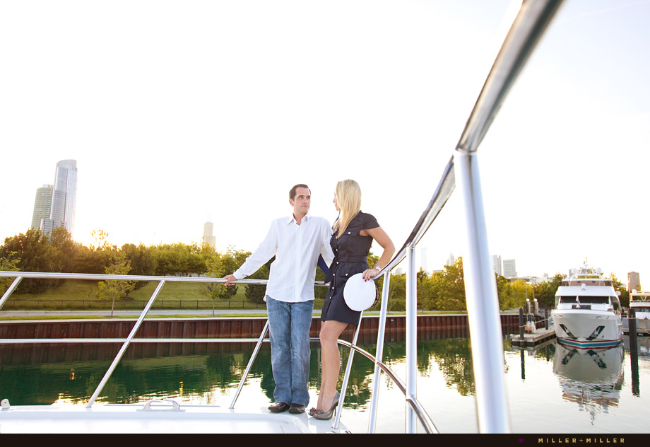 engagement photos bow private yacht