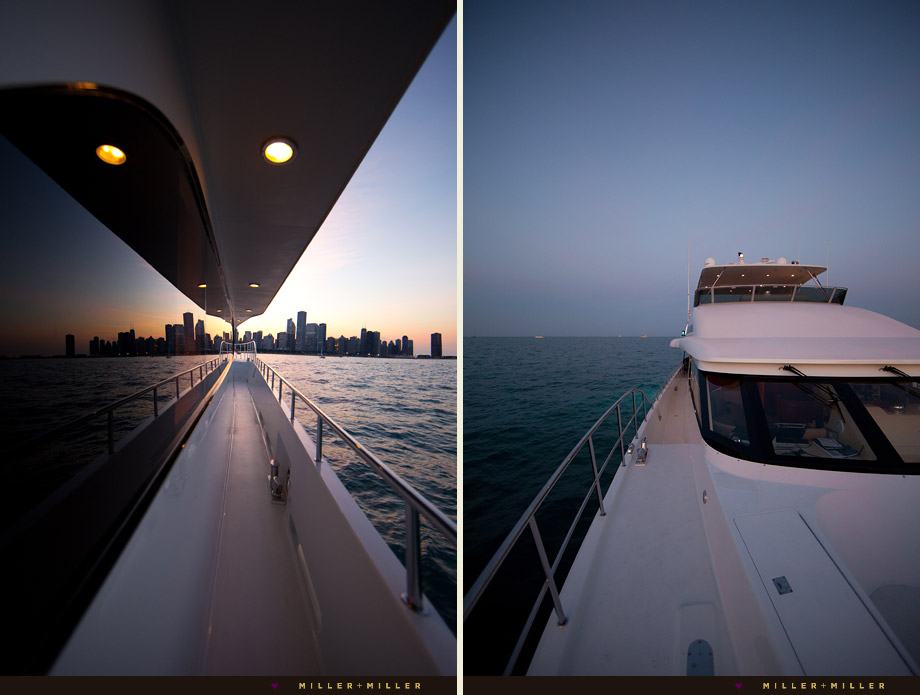 private Chicago yacht skyline photo
