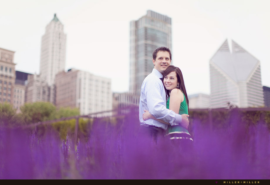 spring engagement photos chicago