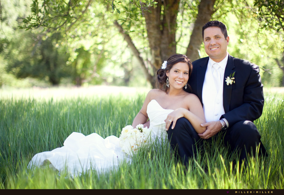 bridal portraits tall grass field tree
