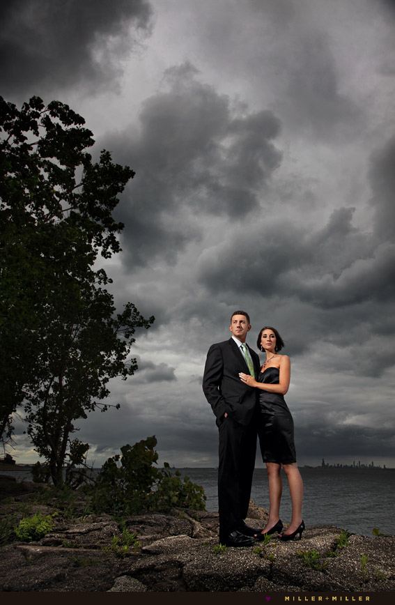 dramatic engagement photography chicago