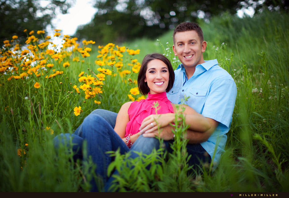 engagement portraits park grass