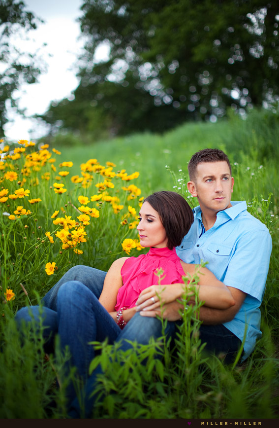 spring engagement portraits