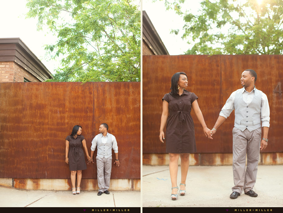 chicago rusty wall engagement images