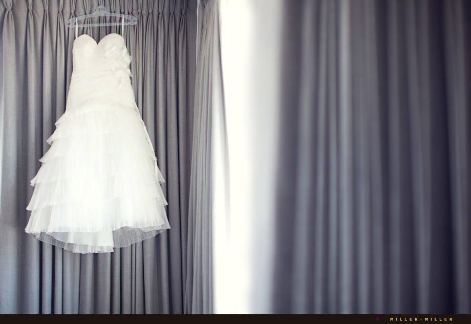 couture dress hanging photo