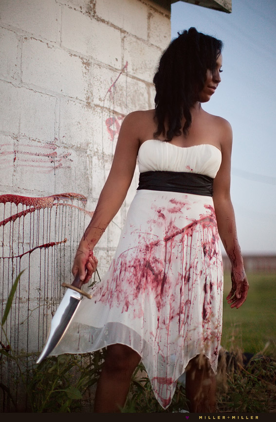 dirty blood stained dress