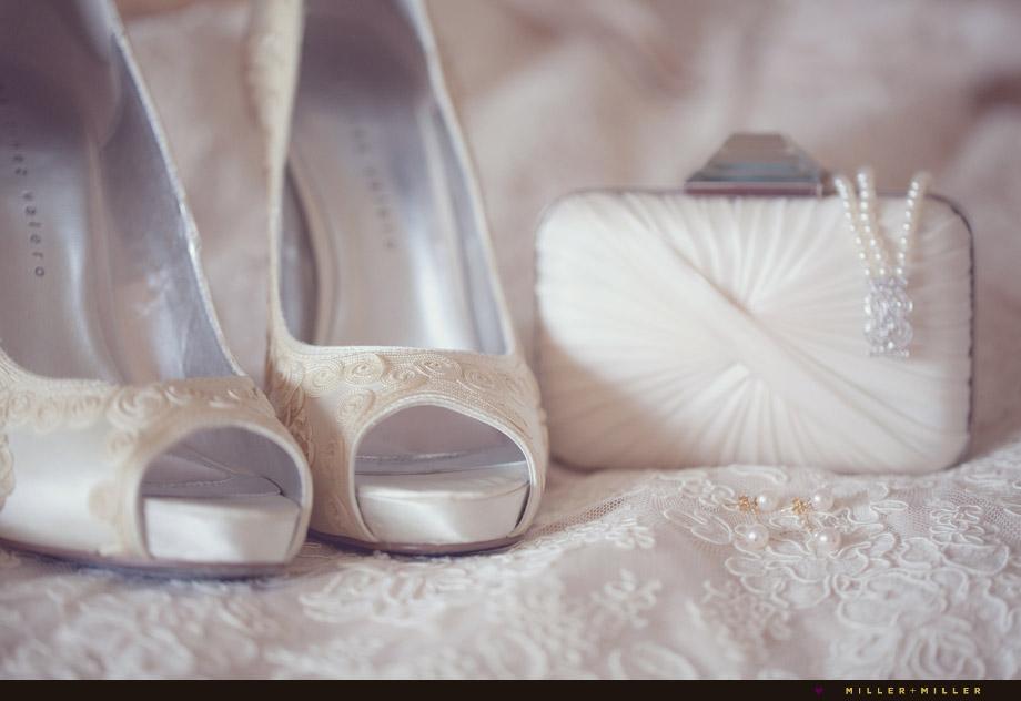 elegant lace bride heels