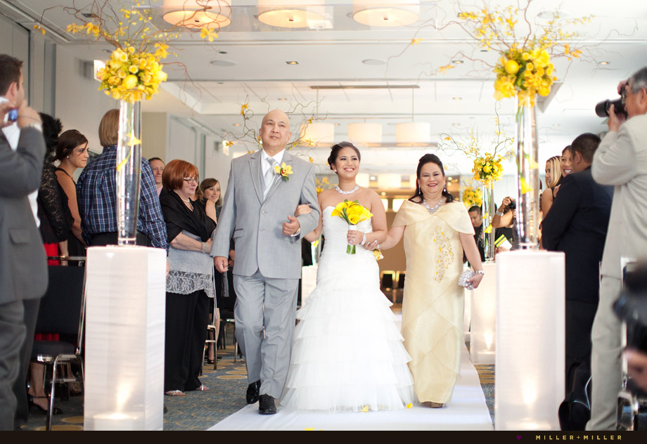 elegant modern ceremony downtown hotel