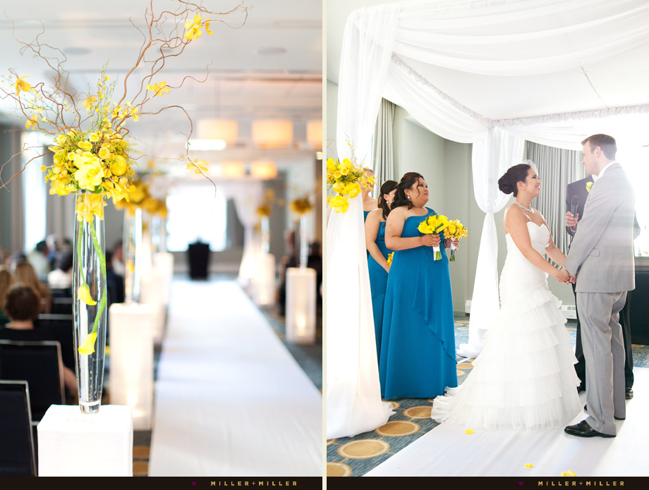 Sophisticated Contemporary Wedding Ceremony In: Ross + Charmagne's Hard Rock Hotel Chicago Wedding