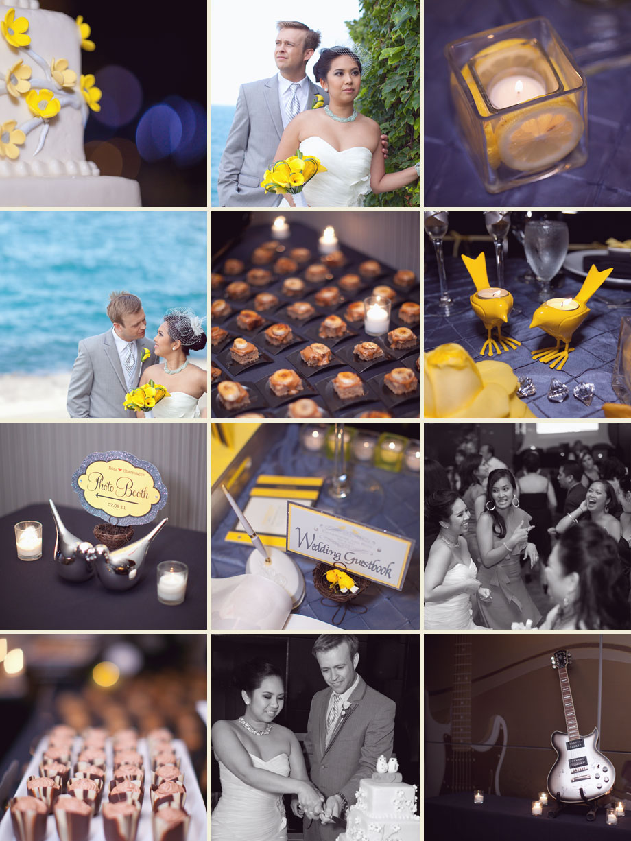 modern michigan avenue chicago wedding