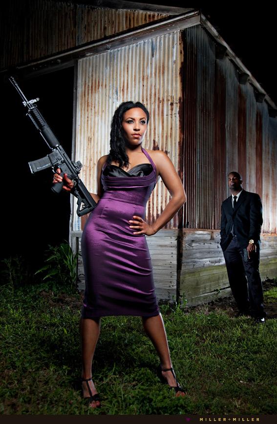 sexy bride ar15 rifle gun