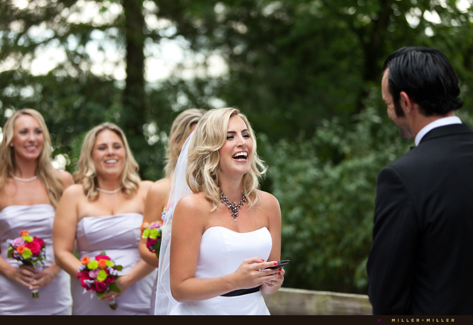 bride smiling vows