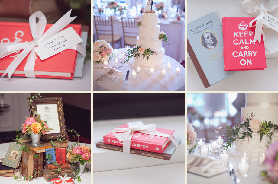 reception decor books